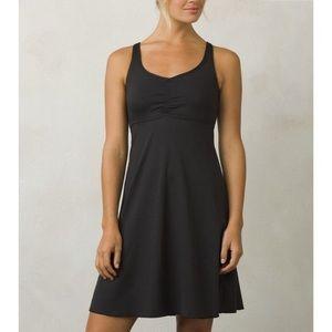 PrAna Charcoal Grey Beachside Halter Dress Size L